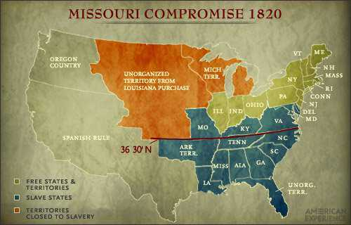 Shifting Political Landscapes During Lincolns Presidency - Compromise of 1850 map
