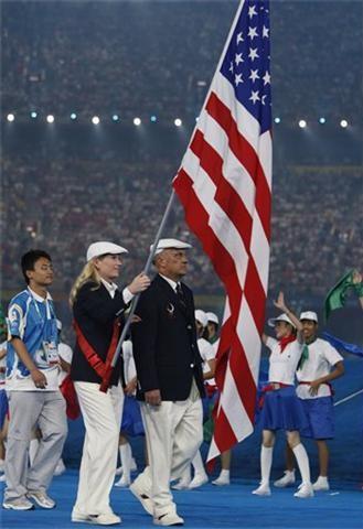 american flag bearer