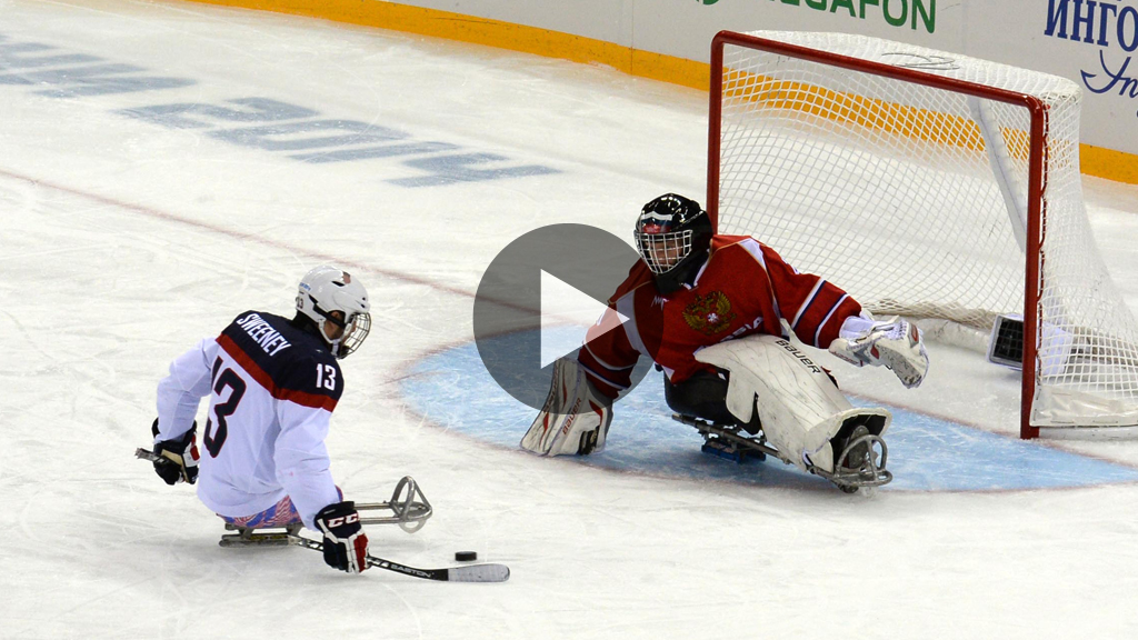 Ice sledge hockey players at the 2006 Winter Paralympics