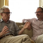 Woody Allen, on the couch with documentary director Robert Weide