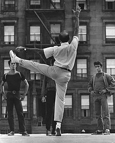 Jerome Robbins rehearsing West Side Story film