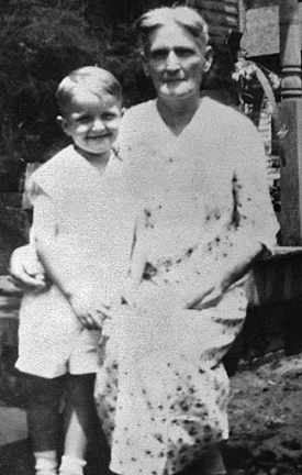 Young Truman Capote with his aunt in Monroeville, Alabama.
