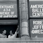 (l to r) Joffrey Ballet founders Gerald Arpino and Robert Joffrey at the American Ballet Center, circa 1960s. Photo Credit: Herbert Migdoll.