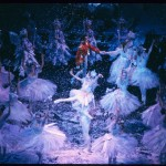 """A still from """"Waltz of the Snowflakes"""" in the Joffrey Ballet's production of """"The Nutcracker."""" Photo Credit: Herbert Migdoll"""