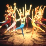 "A stage still from the Joffrey Ballet's ""Trinity,"" choreographed by Gerald Arpino Photo Credit: Herbert Migdoll"
