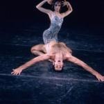 "Trinette Singleton and Max Zamosa in the Joffrey Ballet's ""Astarte,"" a psychedelic multimedia rock ballet, choreographed by Robert Joffrey. Photo Credit: Herbert Migdoll"