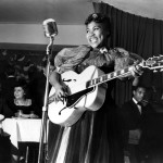Sister Rosetta Tharpe performing in New York's Café Society in 1940. Photo Credit: Photo taken by Charles Peterson. Courtesy Don Peterson.