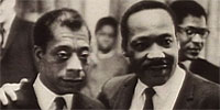 Writer and Civil Rights activist James Baldwin (left) with Dr. Martin Luther King, Jr.