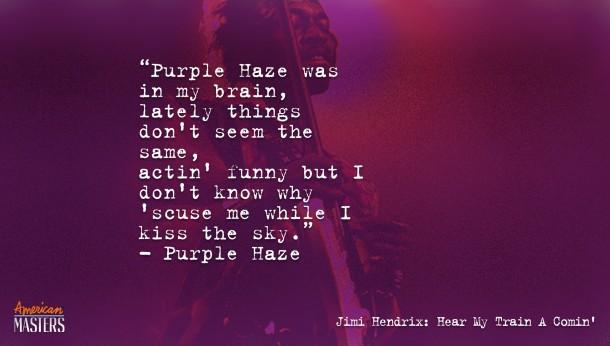 Jimi Hendrix Purple Haze Poster Purple Haze Lyrics by Jimi