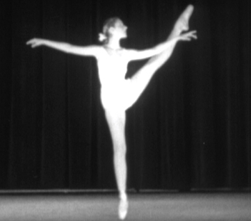 Tanaquil Le Clercq performing Choleric in Balanchine's Four Temperaments