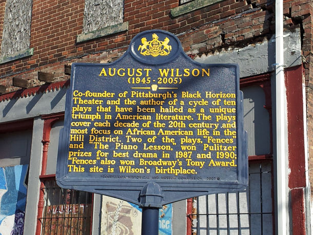 August Wilson's childhood home at 1727 Bedford Ave., Pittsburgh. It is on the National Register of Historic Places. Photo: WQED Pittsburgh.