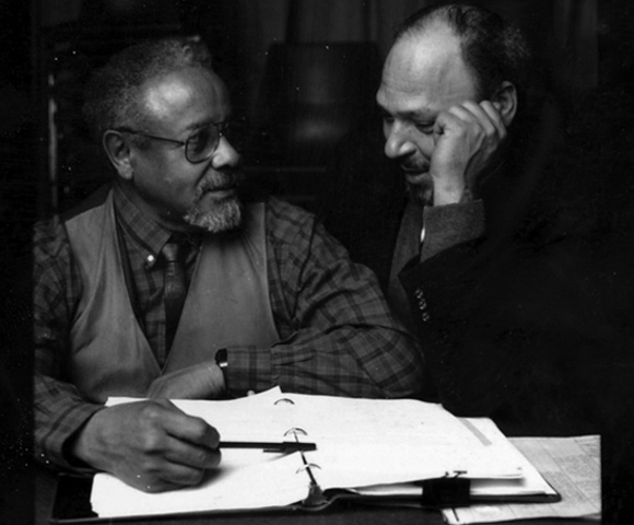 Lloyd Richards (left) and August Wilson (right) met in 1962. Photo: The Yale Repertory Theatre.