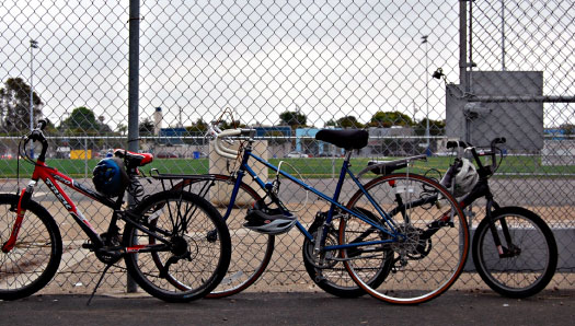 Bikes in the schoolyard