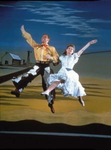 Mark Platt and Katharine Sergava in a scene from Oklahoma, 1943. (Credit: Courtesy of Gjon Mili/Getty Images)