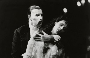 Michael Crawford and Sarah Brightman in The Phantom of the Opera, 1988. (Credit: Courtesy of Photofest)