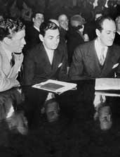 Rudy Vallee, Irving Berlin, and George Gershwin