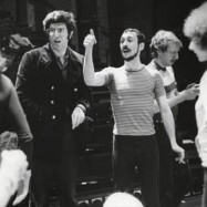 "Marvin Hamlisch with Michael Bennett during rehearsals for ""A Chorus Line."""