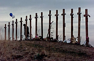 15 crosses at Columbine