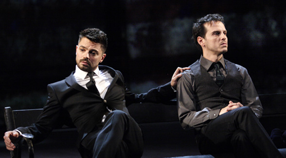 DOMINIC COOPER and ANDREW SCOTT in Angels in America in 50 Years on Stage. Photo by Catherine Ashmore.