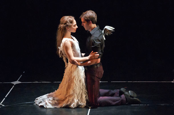 Aurora and Leo reunited in Matthew Bourne's Sleeping Beauty. Photo by Mikah Smillie.