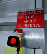 The emergency stop button
