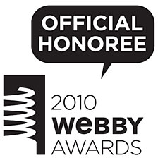 NATURE is an Official Honoree of the 2010 Webby Awards