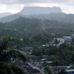 The iconic tabletop mountain, El Yunque, stands behind Baracoa, a small city on the eastern tip of Cuba which was also the first Spanish settlement in the country.
