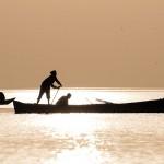 Marsh Arab fishermen
