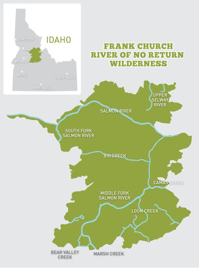 Frank Church-River of No Return Wilderness Map