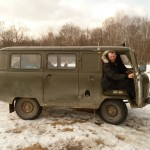 """Love it! I hitched a ride in the ranger wagon on the way out one day. These UAZ vehicles are amazing and will pretty much go anywhere."" (Photo: Joe Loncraine)"