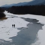"""Sooyong Park and I hike out across a frozen river in search of tiger tracks. I really like Park from the moment we met. I immediately told him ""I want to be your student - please teach me everything you know"". I was completely blown away by Park"