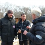 """Producer Mike Birkhead talks to Park and I about the plan for the day. Mike met Park at a film festival and knew immediately that this was a special story to tell."" (Photo: Anatoly Petrov) "
