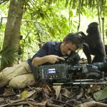 Wildlife cameraman & biologist Colin Stafford-Johnson being groomed. Photo credit: ©Giyarto