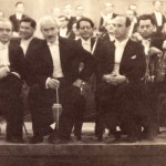 Bronislaw Huberman, Arturo Toscanini, and German conductor William Steinberg. Photo courtesy the Felicja Blumental Music Center Library/Huberman Archive.