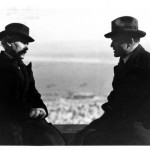 Arturo Toscanini and Bronislaw Huberman in Tel Aviv in December 1936. Photo courtesy of the Felicja Blumental Music Center Library/The Bronislaw Huberman Archives