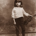 Bronislaw Huberman as a young boy. By nine he moved away from his family, but with his father, to Berlin to study. Photo courtesy of the Felicja Blumental Music Center Library/Huberman Archive.