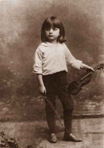 Bronislaw Huberman as a child