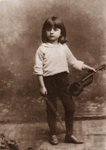 Bronislaw Huberman as a child