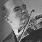 Bronislaw Huberman in later years. He died in 1947 in Switzerland. Photo courtesy of the Felicja Blumental Music Center Library/Huberman Archive.
