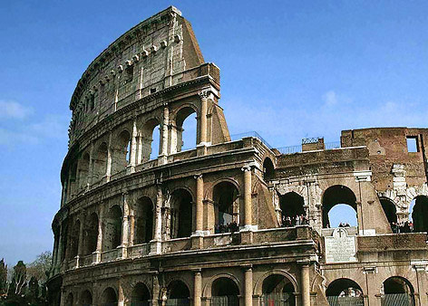 The ancient Roman Colosseum, 2011