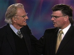 Billy Graham with son Franklin