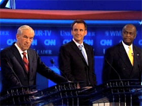 Republican candidates at a debate hosted by CNN