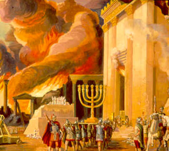 Romans burning the Temple in Jerusalem