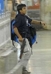 Photograph of Ajmal Kasab, one of the ten terrorists involved in the 2008 Mumbai attacks at the Victoria Terminus station.