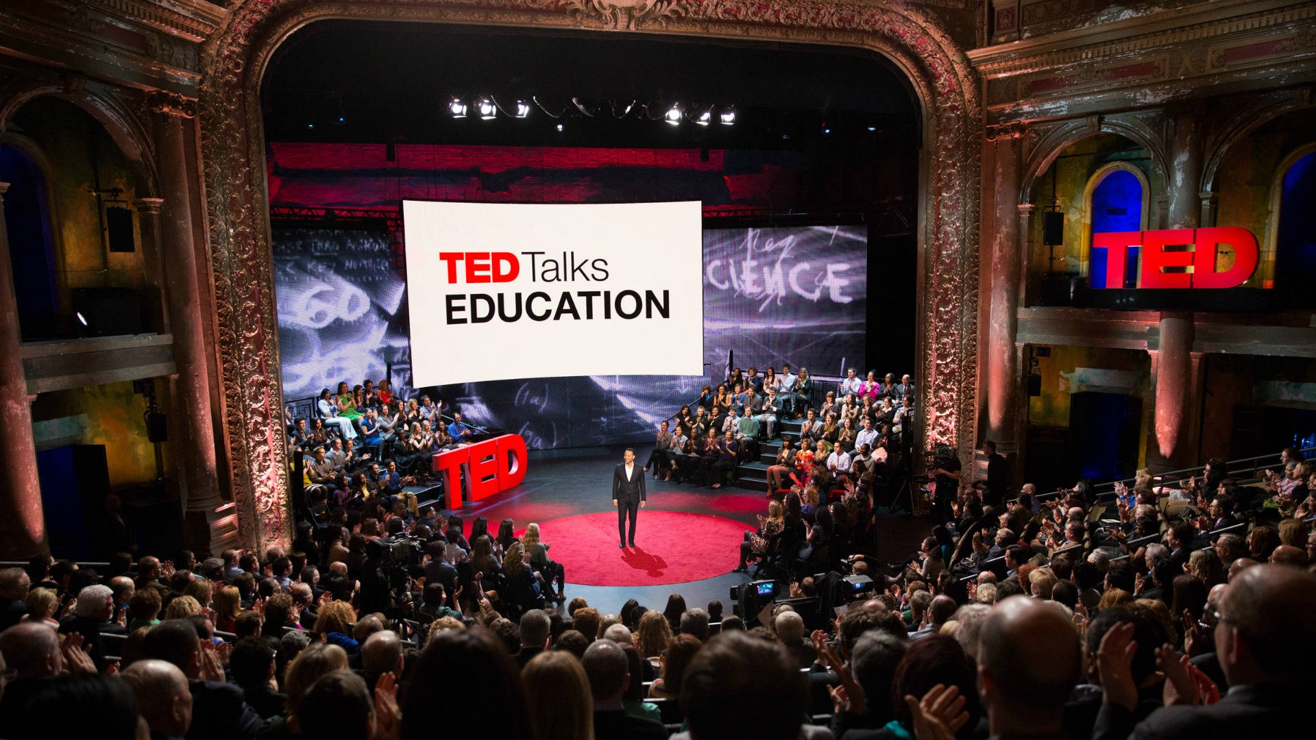 More than 800 educators at TED Talks Education, hosted by musician John Legend at BAM's Harvey Theater in NYC