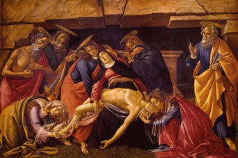 Boticelli: Lamentation of the Death of Christ