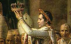 Napoleon se coloca a si mismo, la corona.