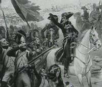 Napoleon con su ejercito en Italia