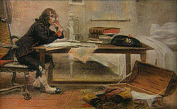 Napoleon at desk