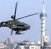 us helicopter over baghdad